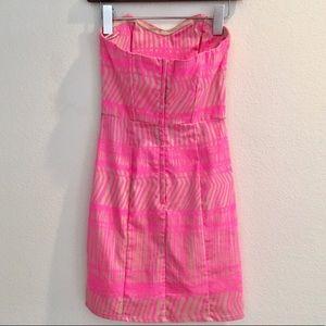 H&M Dresses - H & M • Pink strapless dress